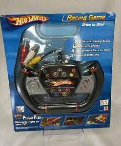 New In Box Mattel Hot Wheels Racing Game Plug & Play Television TV Video Game