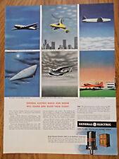 1943 GE General Electric FM Radio Ad WW II  Radio & Radar Futuristic Theme