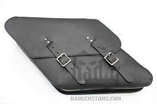Harley DYNA LEFT Side BLACK SOLO BAG Saddlebag - DL051 BAD&G CustomS