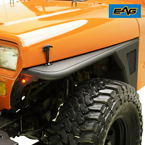 EAG Edge Front Fender Flares W//LED Eagle Lights Fit for 76-86 Jeep Wrangler CJ7