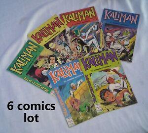 LOTE DE 6 COMICS DE KALIMAN EDITORA CINCO ( LOS PRIMEROS NUMEROS)