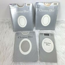 New Christian Dior Pantyhose Hosiery Lot size 3 Ultra Sheer Rose Petal Crystal