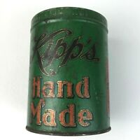 Antique Vintage Cigar Tin Tobacco Tobacciana Kipp's Hand Made Hastings Nebraska