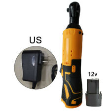 """Cordless Electric Ratchet Wrench 12V Lithium-Ion Battery Charger Kit 1/4"""" Drive"""