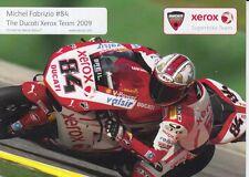 Michel Fabrizio Promo Card Xerox Ducati World Superbikes.