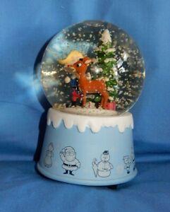 Hallmark Rudolph Red Nosed Reindeer & Friends Hermey Christmas Musical Snowglobe