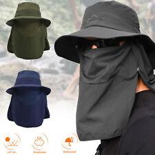 Fishing Bucket Fisherman Cap Wide Brim Hat Sun Protection Visor Neck Face Flap