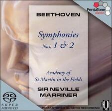 BEETHOVEN Symphonies Nos. 1 & 2 MARRINER ASMIF PentaTone Hybrid SACD NEW SEALED