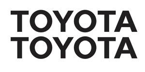 TOYOTA DECAL, VINYL STICKER, (2 items) FREE SHIPPING