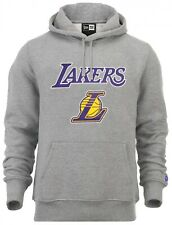 New Era - NBA los Angeles Lakers Logo Del Equipo Sudadera con Capucha - Gris
