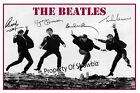 THE BEATLES - HUGE AUTOGRAPH POSTER - ABSOLUTELY STUNNING