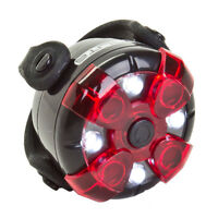 White Lens Red LEDs DuraVision Pro Bicycle Safety Light