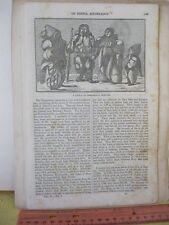 Vintage Print,ESQUIMAUX INDIANS,1845,Graham's