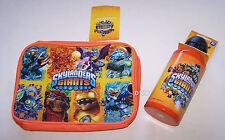 Skylanders Giants Orange Insulated Lunch Box Cooler Bag & Drink Bottle Set New