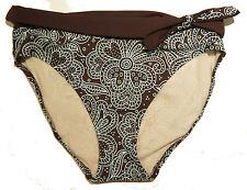 FANTASIE Kefalonia Bikini Swimsuit Fold Brief Swim Bottom  Bourbon / Aqua M
