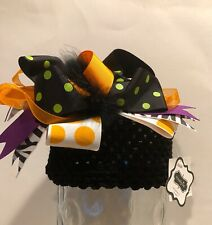OOP! Rare! Adorable Mud Pie Infant's Big Bow Halloween Hat OS (2011)