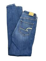 American Eagle Women's High Rise Jegging Super Stretch Size 0 Medium Wash Jeans
