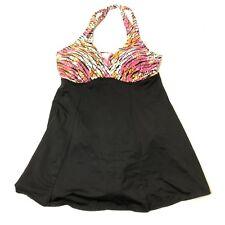 Women's Size 10 Island Escape Underwire Support Swim Dress One Piece Swimsuit