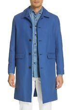 Eidos Napoli rain coat Jacket Trench Long Mens 52 R Us 42 R cotton $1495
