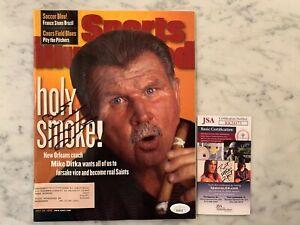 Mike Ditka Autographed Signed Sports Illustrated Magazine Saints JSA Bears