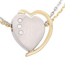 Halsketten und Anhänger mit echten Liebe & Herzen Edelsteinen aus Weißgold