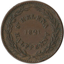 1821 Saint Helena - British East India Company 1/2 Penny Coin KM#A4