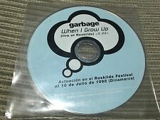 GARBAGE SPANISH CD SINGLE SPAIN 1 TRACK PROMO LIVE ROSKILDE DENMARK WHEN I GROW