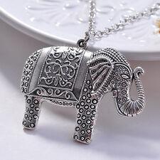 NUOVI Donna Motivo di Elefante Argento Collana Grande Ciondolo Gioielleria Regalo Ragazza Matrimonio