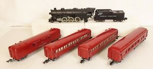 AMERICAN FLYER MOUNTAINEER SET #5322T W/282 LOCOMOTIVE & 651-52-55 CARS-VG+