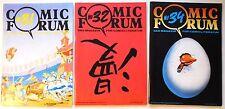 3 x COMIC FORUM | Nr. 31, 32, 34 | Magazin für Comicliteratur | Z1 | CA1641
