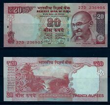 INDIA, 20 RUPEE, NOTES,CURRENCY,PAPER MONEY,UNCIRCULATED, MAHATMA GANDHI