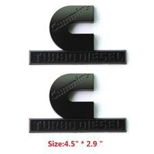 2x OEM Black Cummins Turbo Diesel Emblem Badge High Output RAM 2500 3500 W Mopar