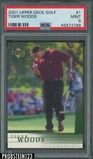 2001 Upper Deck Golf #1 Tiger Woods PSA 9 MINT