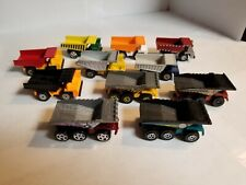 Pre-Owned Matchbox Lot of 11 Different Dump Trucks Construction Vehicles