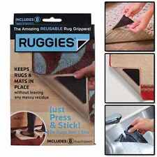 Ruggies Rug Carpet Grippers Washable and Reusable Triangle Pads 8X
