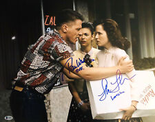 """LEA THOMPSON TOM WILSON SIGNED AUTOGRAPH """"BACK TO THE FUTURE"""" 16X20 BECKETT 2"""