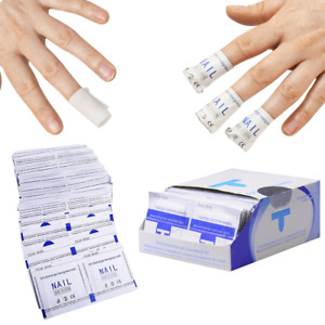 PROFESSIONAL NAIL POLISH REMOVER SOAKED WIPES UV GEL SOAK OFF FOIL WRAPS ACETONE