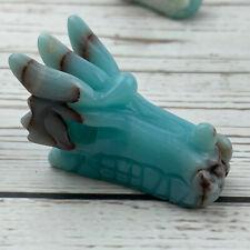 "2"" Natural Amazonite Quartz dragon Skull Hand Carved Crystal Healing 1pc"