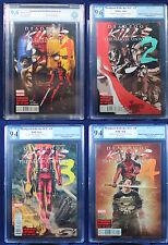 Deadpool Kills Marvel Universe #1-4 PGX or CBCS (not CGC) 9.4 & 9.6 NM & NM+ HTF