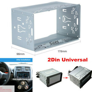Double 2Din Car Radio Frame Fascia Dash Panel for DVD Player Stereo Mount Trim