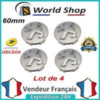 Lot 4 Centre de roue Peugeot 60mm emblème moyeu cache centre 60 mm NEUF LOGO