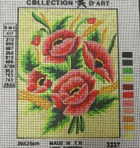 RED POPPIES & YELLOW BLOOMS - NEW TAPESTRY to Stitch - Collection D'Art