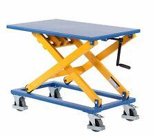 Hubtisch mit Kurbel | Hubwagen mit Spindel | Hubtischwagen Traglast 300 kg