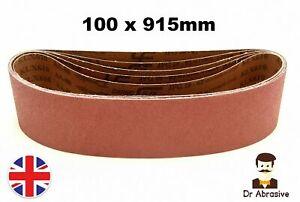 Sanding Belts 100 x 915mm DURABLE 4'' x 36'' Belt Sanders // 40 - 400 GRIT //