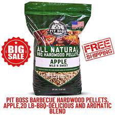 Pit Boss Hardwood Pellets, Apple, 20 lb, Bbq, Outdoor Cooking, Grill Accessories