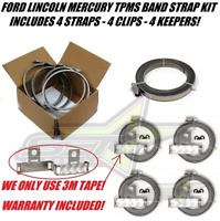 Universal TPMS Bands Kit Tpms Accessories Include 4 Straps | 4 Clips | 4 Keepers
