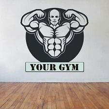 PERSONALISED GYM, LARGE WALL STICKER, Weights, Heavy, Fitness, Decal, WallArt
