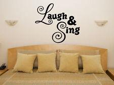 rie y cantar Lema Dormitorio Salón Comedor ADHESIVO adhesivo pared imagen
