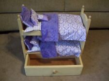Vintage American Girl Doll Wooden Bunk Beds With Bedding…..Pre-Owned