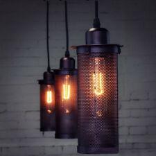 E27 Retro Vintage Industrie Edison-Metallanhänger -Decken-Lampe Licht- Schwarz
